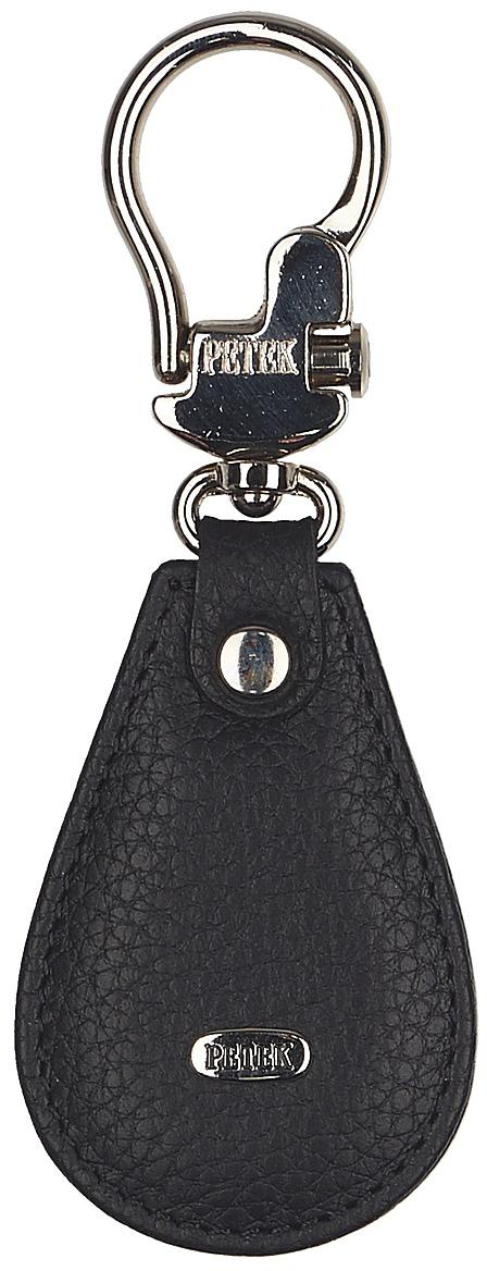 Брелок Petek 1855, цвет: черный. 508.232.01508.232.01 BlackБрелок для ключей Petek 1855 выполнен из натуральной кожи. Изделие оформлено металлической пластиной с гравировкой бренда и оснащено металлическим кольцом.Такой брелок станет стильным дополнением к ключам.