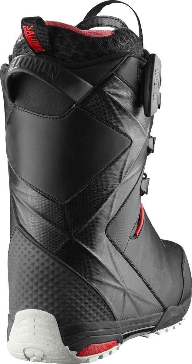 """Самые гибкие ботинки для сноубординга Salomon """"Malamute"""" с непревзойденной поддержкой поставляются в комплекте с новой стелькой двойной плотности Ortholite C3, которую отличают пена с эффектом памяти и пяточная чашка из сополимера EVA, и внутренним ботинком Platinum 4D для максимально комфортного катания. Встроенный ремешок задника Integrated Heel-Strap, вставка Power Frame и Energizer Bars обеспечивают индивидуальную и четкую посадку по ноге. В модели используются подошва Hike, гарантирующая отличное сцепление, и знаменитая шнуровка PowerLock, которая отлично фиксирует ногу.  Как выбрать сноуборд. Статья OZON Гид"""