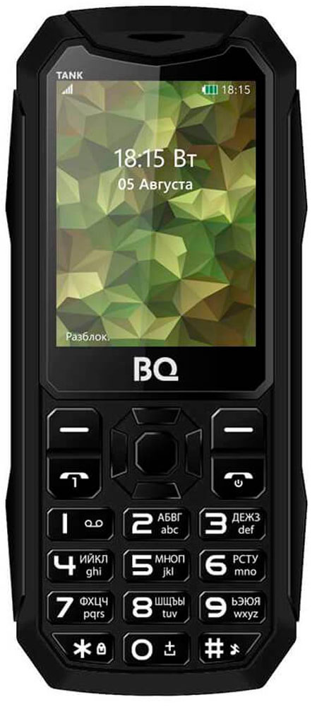 BQ 2428 Tank, Black85953766Мобильный телефон BQ 2428 Tank это не только привычная звонилка, но и устройство, которое станет помощником в повседневной жизни. Если появилась необходимость срочно сфотографировать документы, используйте встроенную камеру . Слушайте любимые радиостанции с помощью встроенного FM-радио приемника. В телефоне присутствует модуль Bluetooth для оперативной передачи файлов. Диагональ дисплея 2.4 дюйма позволяет с комфортом просматривать необходимый мультимедийный контент.