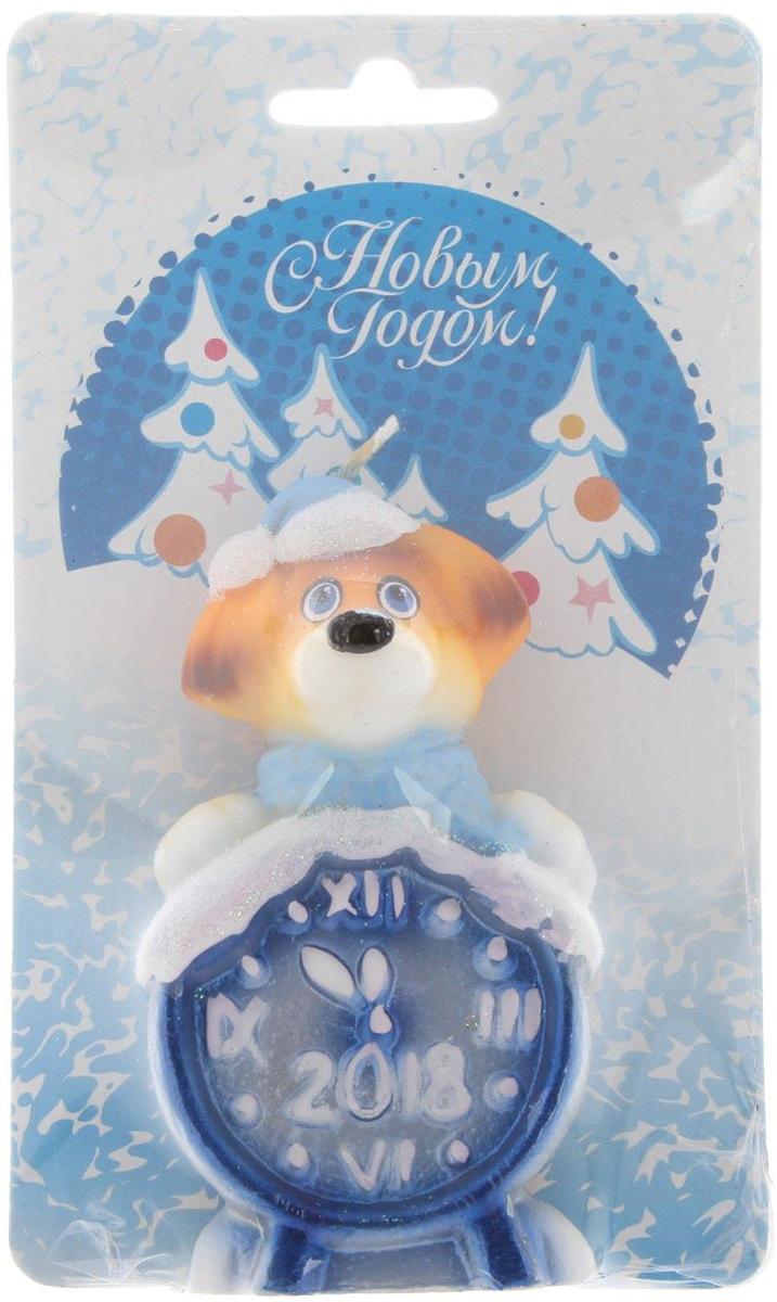 Свеча декоративная Омский свечной завод Собака с часами, цвет: голубой, высота 8,5 см2563625Невозможно представить нашу жизнь без праздников! Мы всегда ждем их и предвкушаем, обдумываем, как проведем памятный день, тщательно выбираем подарки и аксессуары, ведь именно они создают и поддерживают торжественный настрой - это отличный выбор, который привнесет атмосферу праздника в ваш дом!Какой новогодний стол без свечей? Вместе с мандаринами, шампанским и еловыми ветвями они создадут сказочную атмосферу, а их притягательное пламя подарит ощущение уюта и тепла.А еще это отличная идея для подарка! Оградит от невзгод и поможет во всех начинаниях в будущем году.Пусть удача сопутствует вам и вашим близким!Каждому хозяину периодически приходит мысль обновить свою квартиру, сделать ремонт, перестановку или кардинально поменять внешний вид каждойкомнаты. Привлекательная деталь, которая поможет воплотить вашу интерьерную идею, создать неповторимую атмосферу в вашем доме. Окружите себя приятными мелочами, пусть они радуют глаз и дарят гармонию.Какой новогодний стол без свечей? Вместе с мандаринами, шампанским и еловыми ветвями они создадут сказочную атмосферу, а их притягательное пламя подарит ощущение уюта и тепла.А еще это отличная идея для подарка! Оградит от невзгод и поможет во всех начинаниях в будущем году.Пусть удача сопутствует вам и вашим близким!
