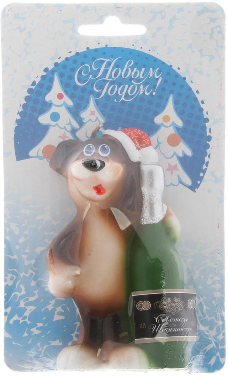 Свеча декоративная Омский свечной завод Собака с шампанским, цвет: синий, высота 8,5 см2563626Какой новогодний стол без свечей? Вместе с мандаринами, шампанским и еловыми ветвями они создадут сказочную атмосферу, а их притягательное пламя подарит ощущение уюта и тепла.А еще это отличная идея для подарка! Оградит от невзгод и поможет во всех начинаниях в будущем году.Пусть удача сопутствует вам и вашим близким!Каждому хозяину периодически приходит мысль обновить свою квартиру, сделать ремонт, перестановку или кардинально поменять внешний вид каждой комнаты. Привлекательная деталь, которая поможет воплотить вашу интерьерную идею, создать неповторимую атмосферу в вашем доме. Окружите себя приятными мелочами, пусть они радуют глаз и дарят гармонию.