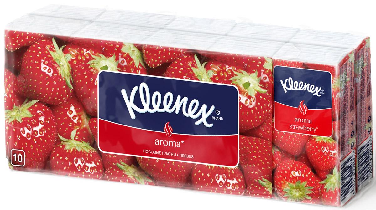 Kleenex Платочки носовые Клубника 10 х 10 шт