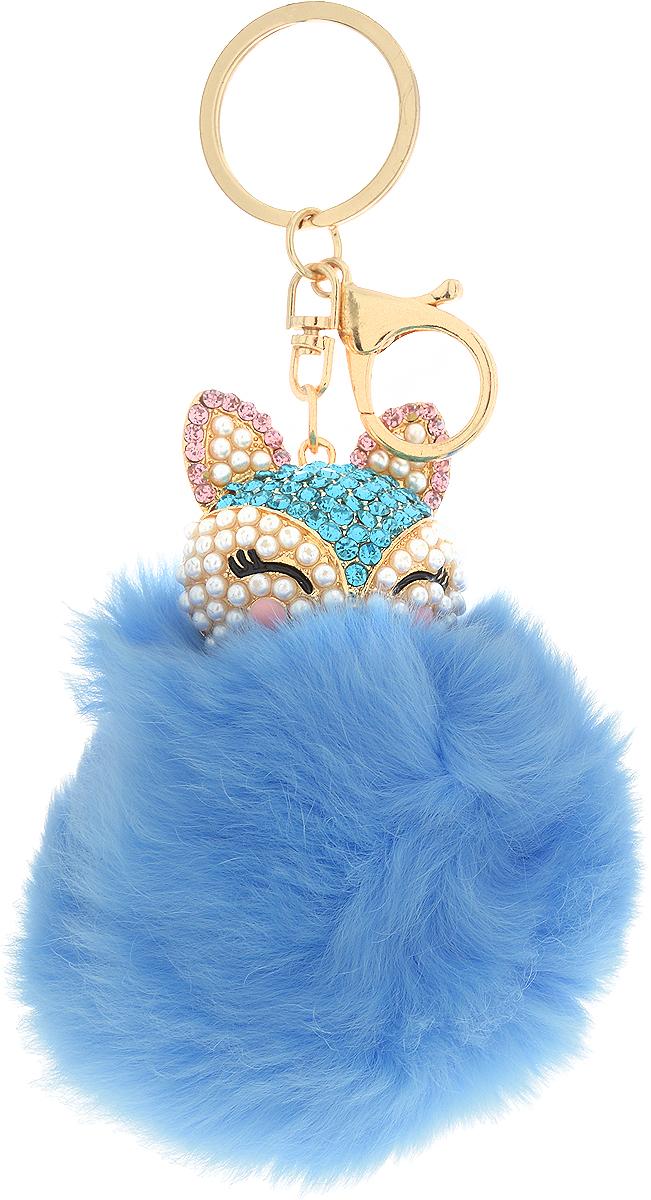 Vebtoy Брелок Пушистый котенок цвет голубой