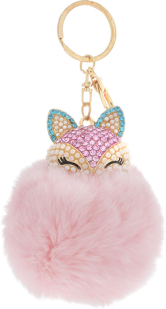 Vebtoy Брелок Пушистый котенок цвет розовый БР-607