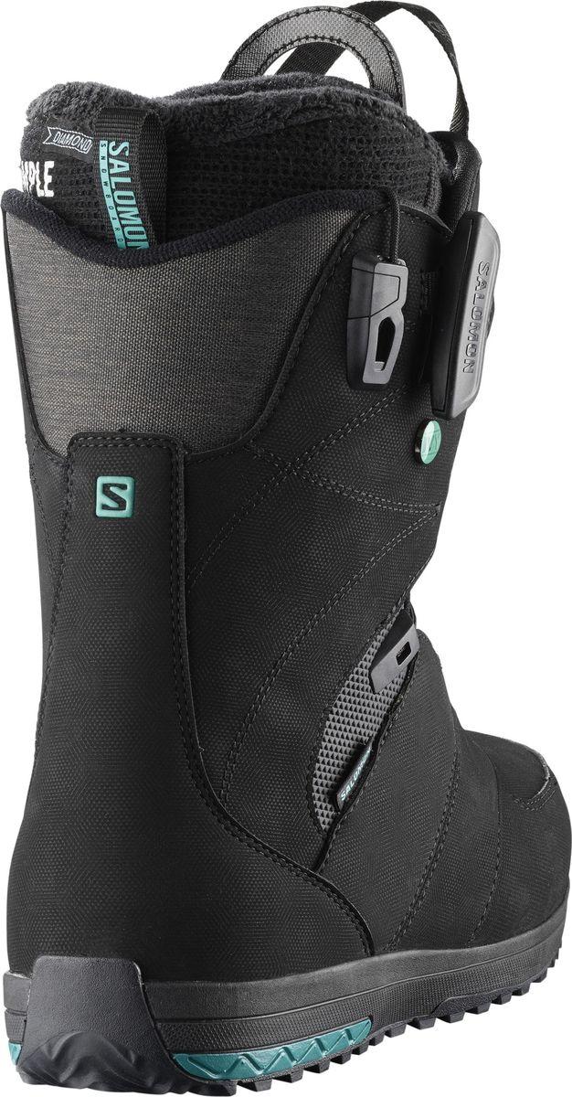 """Ваши ноги заслуживают того, чтобы быть счастливыми, а ботинки для сноуборда Salomon """"IVY"""" помогут добиться этого! Новая стелька Ortholite C2 с эффектом памяти гарантирует непревзойденный комфорт, а система шнуровки ZoneLock + STR8JkT обеспечивают исключительную поддержку пятки. Эти ботинки разработаны, чтобы дарить ногам ощущение мягкого уюта с первого до последнего спуска.  Как выбрать сноуборд. Статья OZON Гид"""