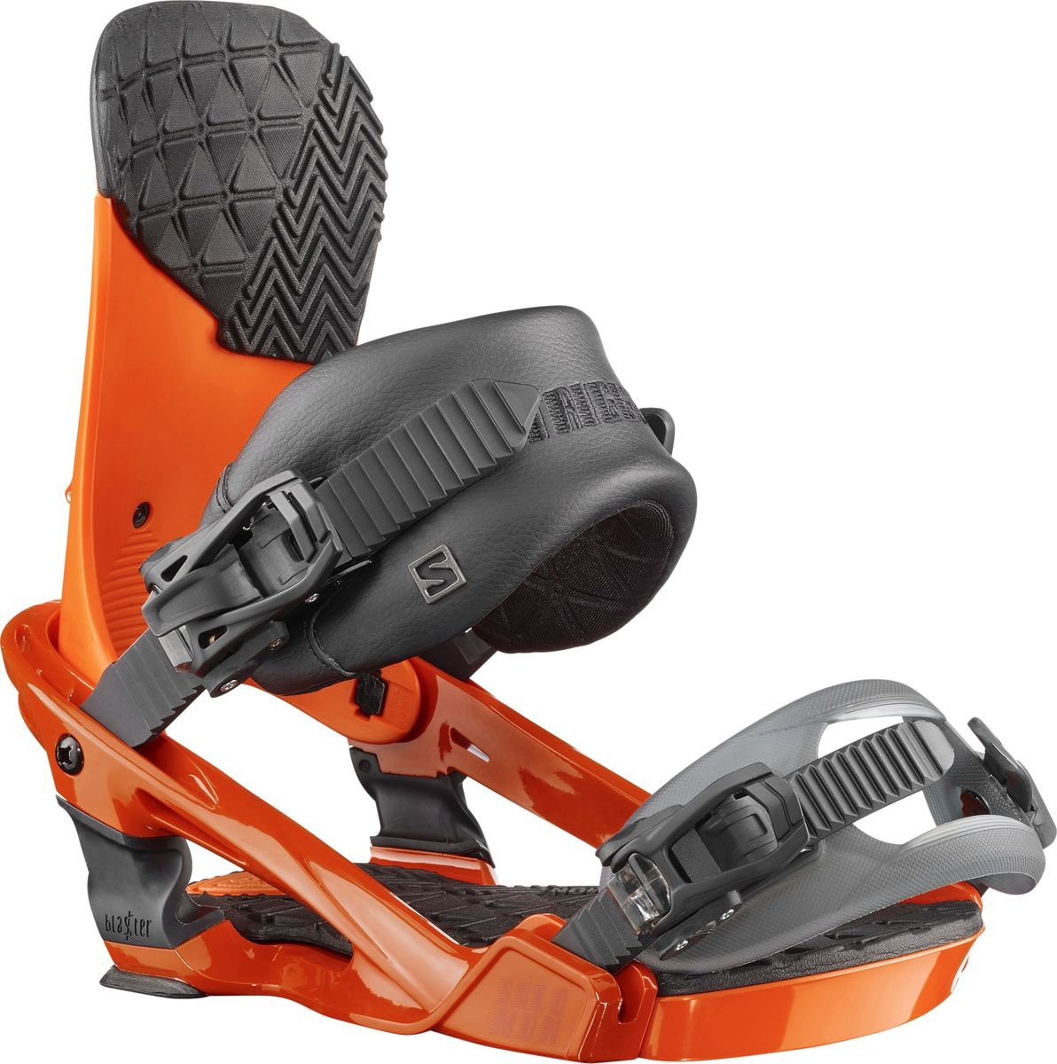Крепление для сноуборда Salomon Trigger, цвет: оранжевый. Размер LL39836300Абсолютно новые крепления для сноуборда Salomon Trigger средней жесткости, разработанные специально для Криса Гренье, отлично подойдут для фристайла и катания в пайпе. Технология Blaster Tech — интуитивное соединение Freestyle Jib, выполняющее роль динамической подвески, поглощает удары, выравнивает катание и обеспечивает лучшую боковую подвижность. Крепления имеют чемпионскую анатомию и самые необходимые характеристики: новую базу Blaster, стрепы 3D Prime и Lock-In Deluxe Toe, и минималистичный хайбек.