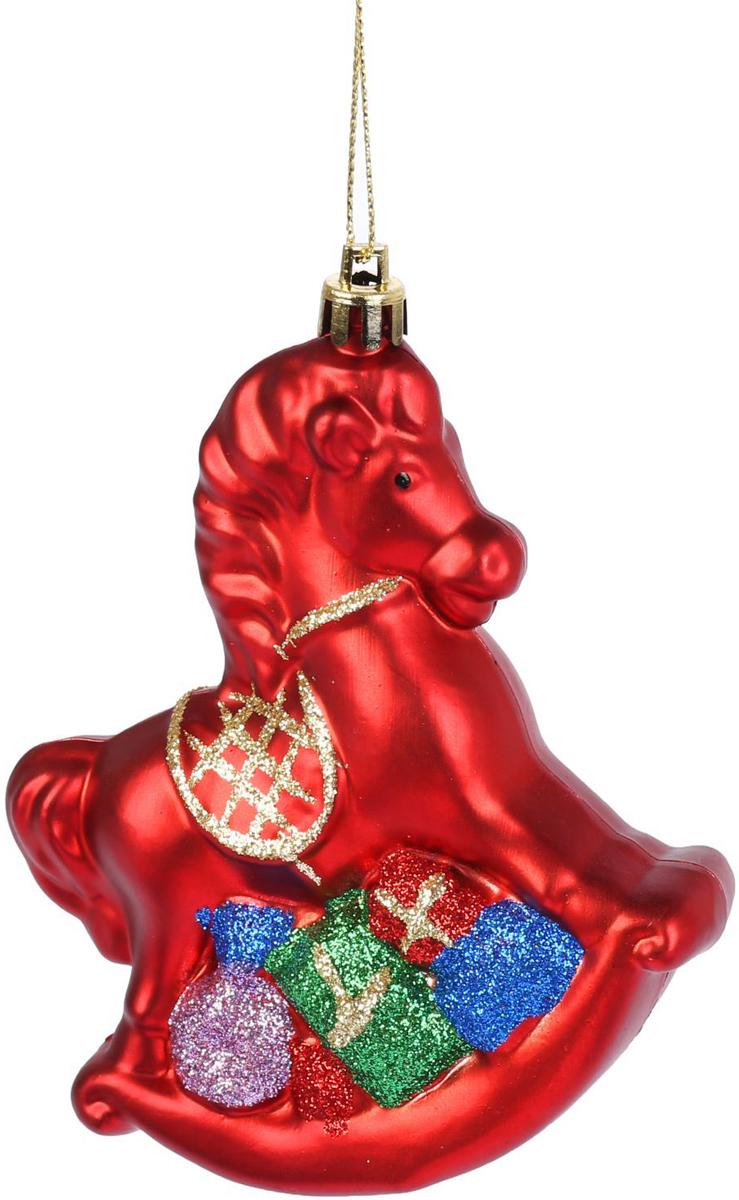 Новогоднее подвесное украшение Конек, 10,5 х 8,5 см2122497Новогоднее подвесное украшение отлично подойдет для декорации вашего дома и новогодней ели. С помощью специальной петельки украшение можно повесить в любом понравившемся вам месте. Но, конечно, удачнее всего оно будет смотреться на праздничной елке.Елочная игрушка - символ Нового года. Она несет в себе волшебство и красоту праздника. Такое украшение создаст в вашем доме атмосферу праздника, веселья и радости.