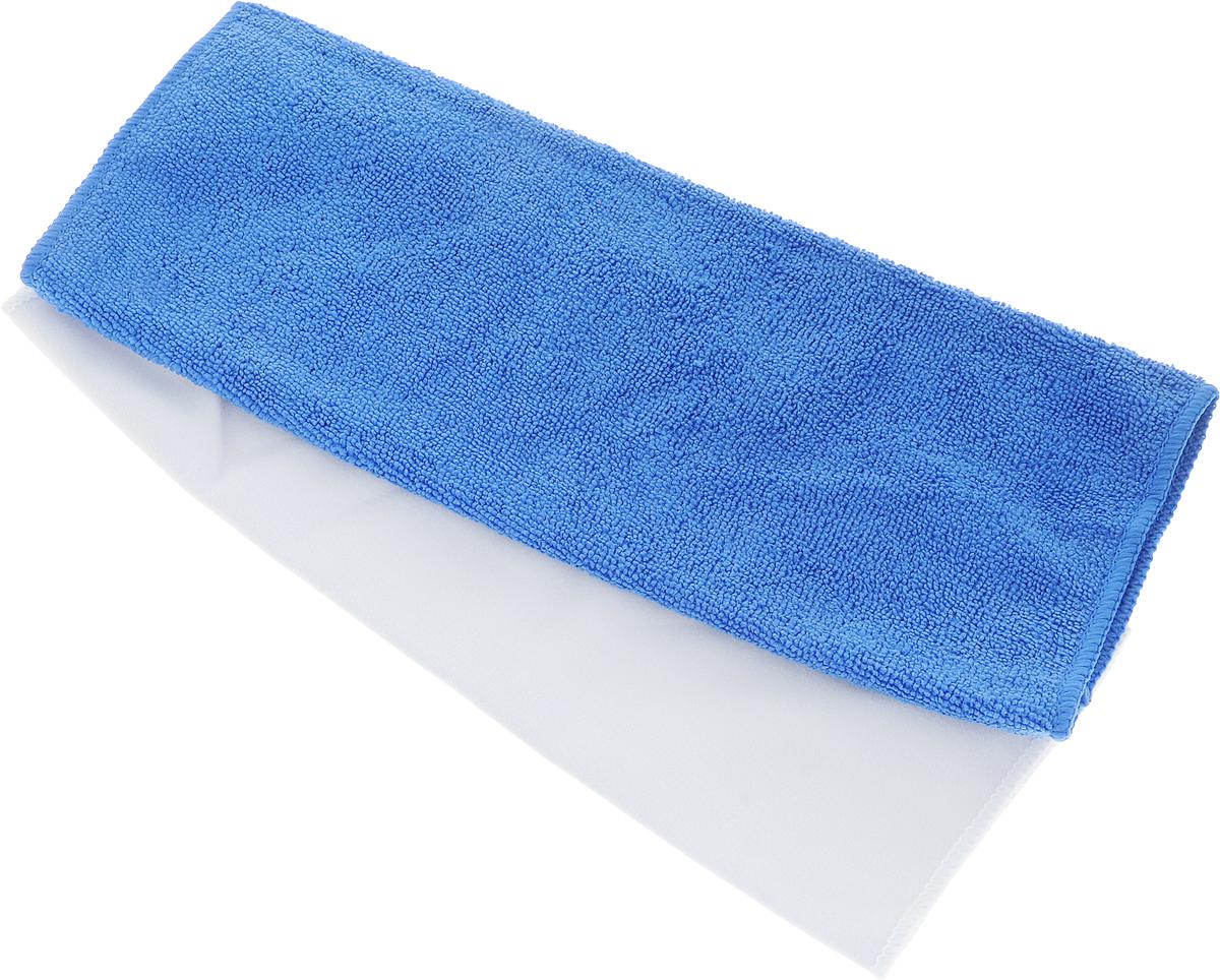 Салфетка чистящая Sapfire Cleaning Сloth & Suede, цвет: синий, белый, 35 х 40 см, 2 шт3069-SFM_синий, белыйНабор Sapfire Cleaning Сloth состоит из салфетки дляудаления влаги и замшевой салфетки для деликатныхповерхностей. Благодаря своей уникальной ворсовойструктуре, салфетки прекрасно подходят для мытья иполировки автомобиля. Материал салфеток - микрофибра (85% полиэстер и15% полиамид) обладает уникальной способностьюбыстро впитывать большой объем жидкости.Клиновидные микроскопические волокназахватывают и легко удерживают частички пыли,жировой и никотиновый налет, микроорганизмы, втом числе болезнетворные и вызывающиеаллергию. Протертая поверхность становится идеальночистой, сухой, блестящей, без разводов и ворсинок.Допускается машинная и ручная стирка слабым моющимраствором в теплой воде. Отбеливание и глажка запрещены.
