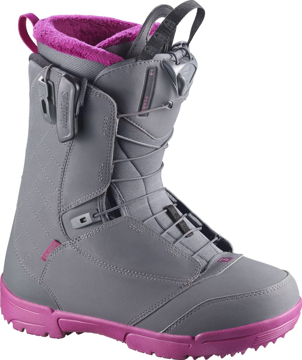 "Ботинки для сноуборда Salomon ""Pearl"", цвет: серый. Размер 26,5 (40,5)"