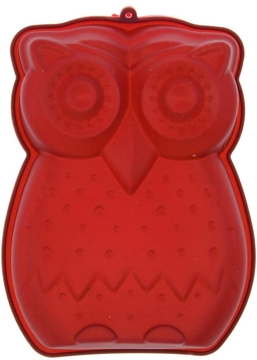 Форма для выпечки Доляна Совенок, цвет: красный, 19 х 15 см811899_красныйФорма для выпечки Доляна Совенок, цвет: красный, 19 х 15 см
