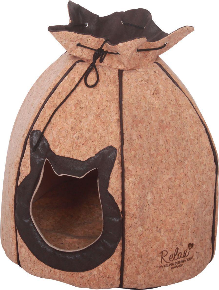 Домик для кошек Fauna Alma, 36 х 36 х 36 см. FIDB-0212/9212FIDB-0212/9212Домик для кошек, мягкий (держит форму за счет качества швов) из пробкового полотна. Пробковое полотно - искусственный материал, имитирующий натуральную пробку. Гигиеничен, легко чистится, не накапливает пыли.