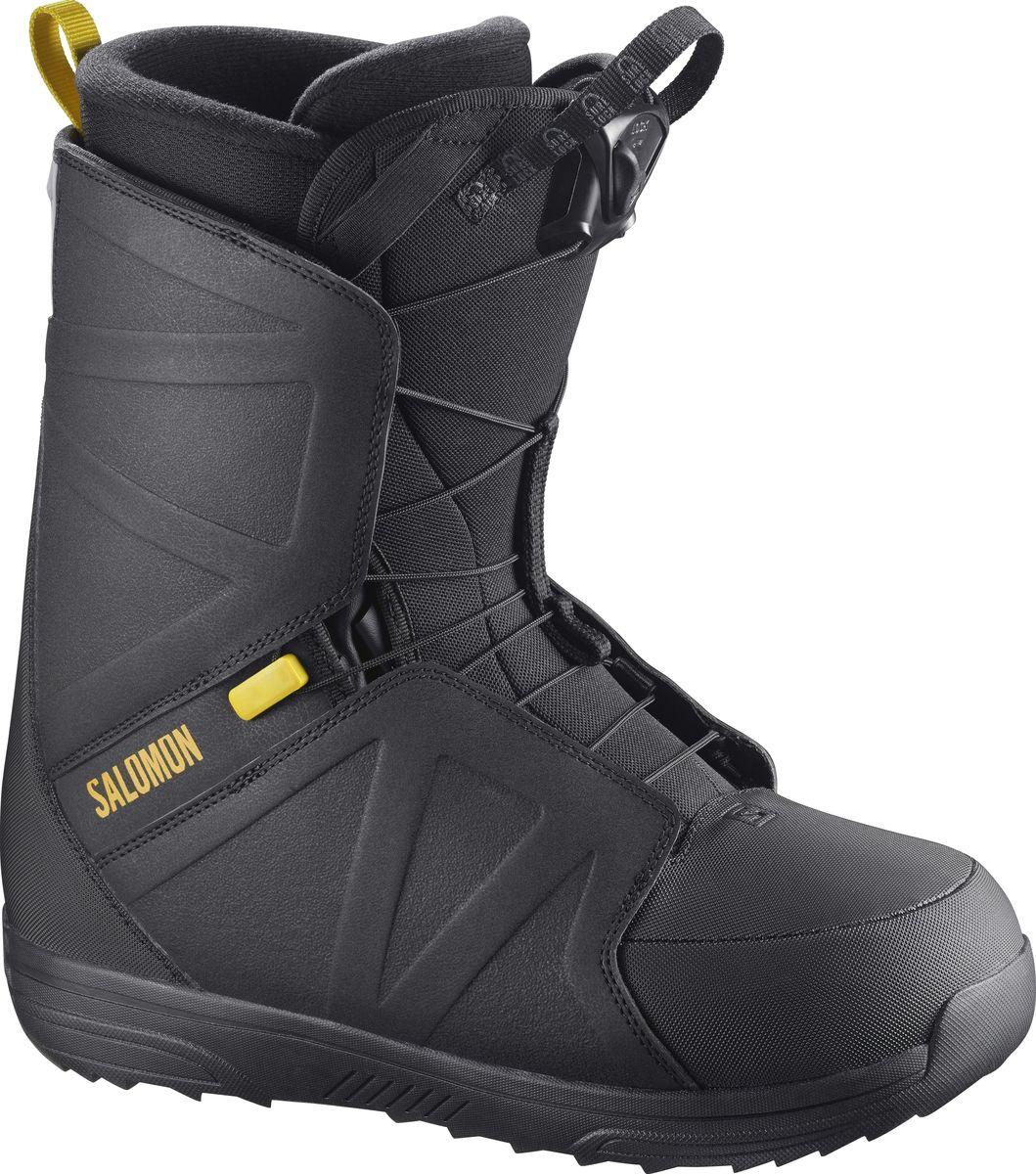"""Ботинки для сноуборда Salomon """"Faction RTL"""", цвет: черный, желтый. Размер 29,5 (45)"""