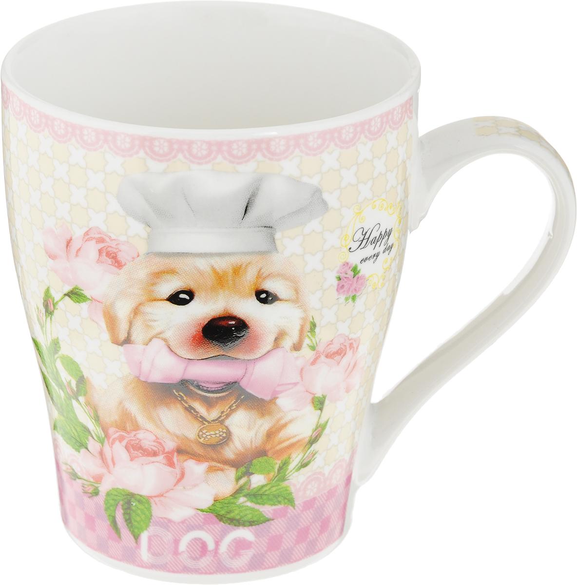 Кружка Loraine Собака, цвет: белый, розовый, бежевый, 340 мл. 2656126561_костьКружка Loraine Собака, выполненная из костяного фарфора и украшенная ярким рисунком, станет красивым и полезным подарком для ваших родных и близких. Дизайн изделия придется по вкусу и ценителям классики, и тем, кто предпочитает утонченность и изысканность.Кружка настроит на позитивный лад и подарит хорошее настроение с самого утра.Изделие пригодно для использования в микроволновой печи и холодильника.Подходит для мытья в посудомоечной машине.Диаметр (по верхнему краю): 8,3 см.Высота стенки: 10 см.Объем: 340 мл.