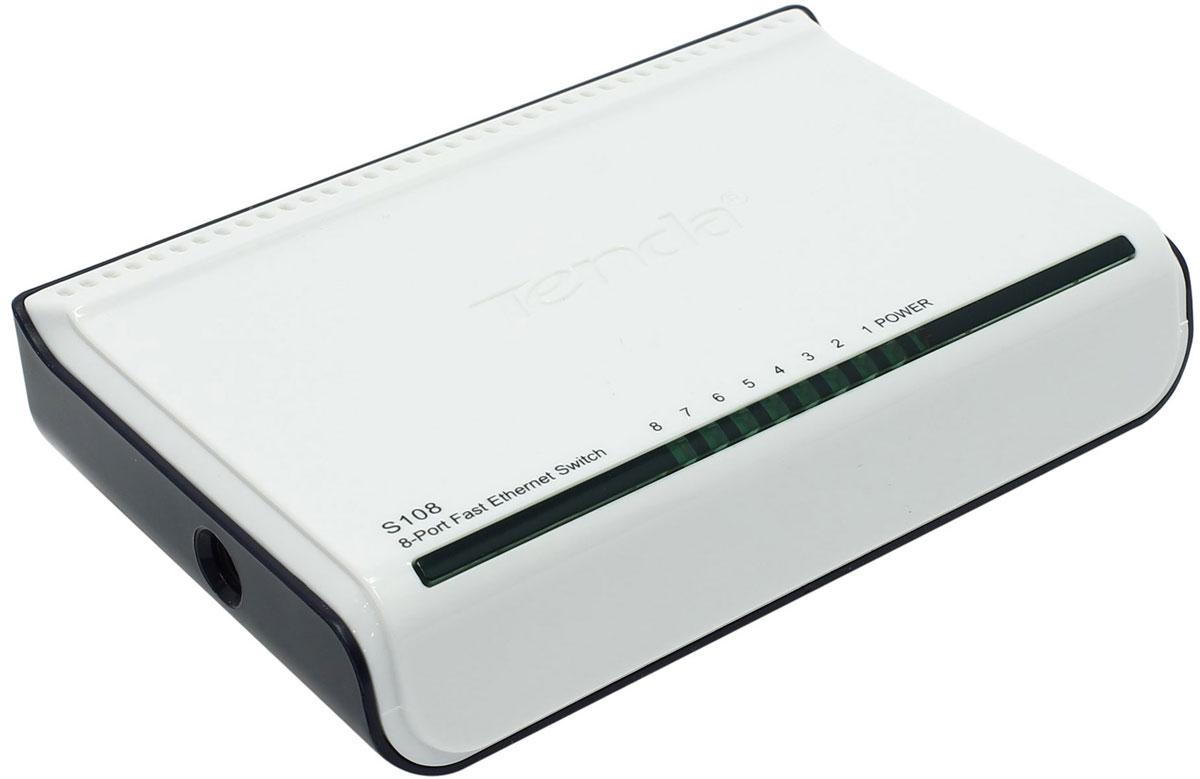 Tenda S108 коммутатор235062Tenda S108 - это настольный коммутатор, специально предназначенный для семей, офисов, общежитий и так далее. 8 х 10/100 портов автосогласования с полной дуплексной скоростью до 200 Мбит/с обеспечивают быстрый доступ к сети. Конструкция Plug & play позволяет легко установить устройство. Независимо от того, насколько вы технологически подкованы или опытны, S108 очень прост и интуитивно понятен. Благодаря ультракомпактной конструкции Tenda S108 также поддерживает настольные и настенные крепления, поэтому вы можете разместить его в любом месте, как вам хочется. Совместимость с компьютером, принтером, интеллектуальными телевизорами, NAS, смарт-игровой консолью, IP-камерами.