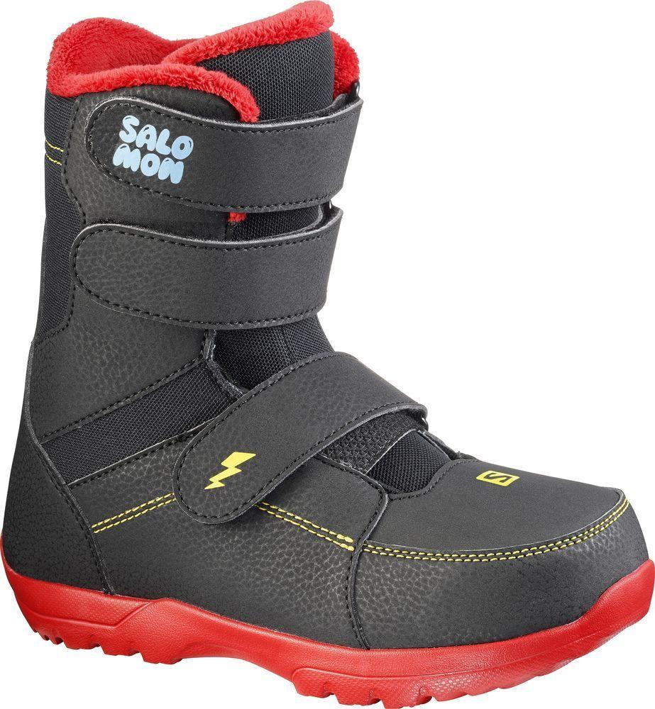 Ботинки для сноуборда Salomon Whipstar, цвет: черный. Размер 19 (29)L39949700Ботинки для сноуборда Salomon Whipstar – это специальные ботинки для самых маленьких райдеров, которые позволят им воплотить мечту в явь - стать настоящим сноубордистом.