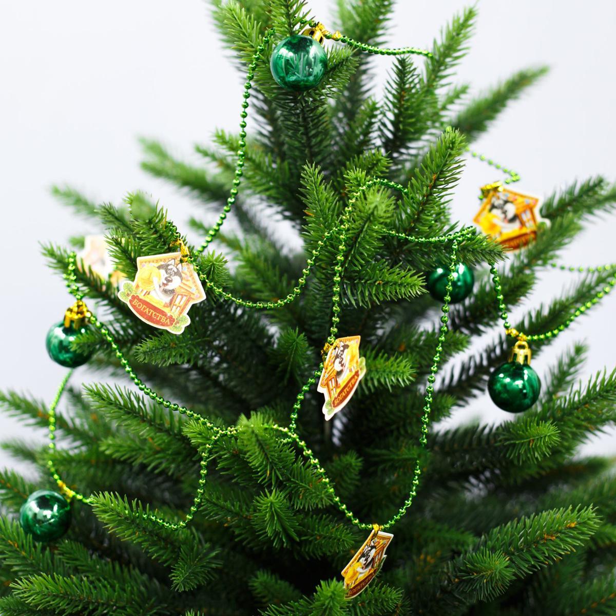 Гирлянда новогодняя Богатства, длина 2 м2301774Как приятно преображать жилище в преддверии долгожданного торжества! Декором можно не только оформить елку, но и украсить шкаф или стену.
