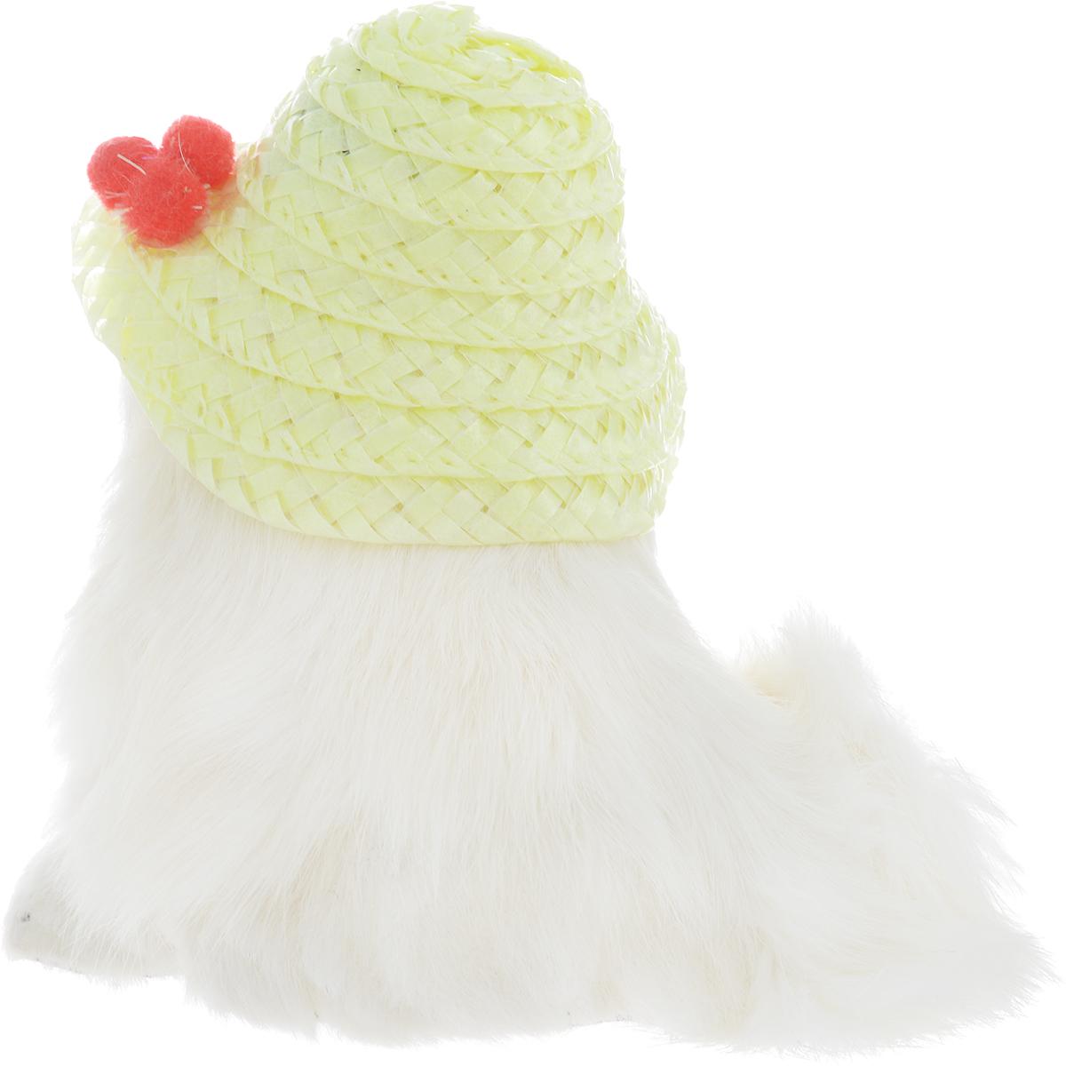 VebtoyФигурка Котенок в шляпке цвет белый