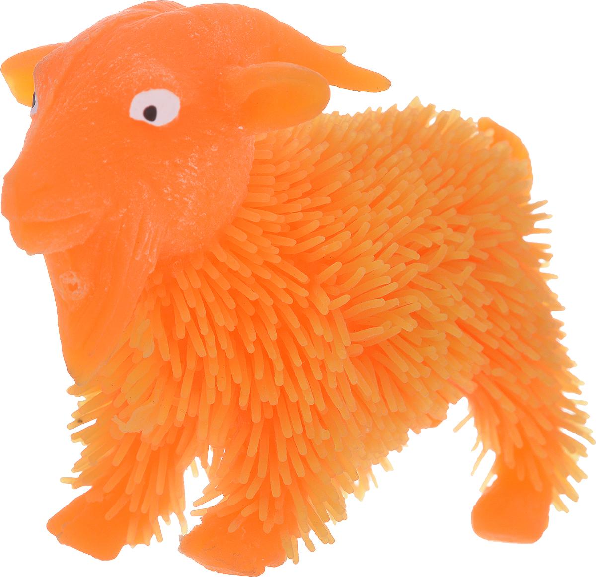 1TOY Антистрессовая игрушка Нью-Ёжики Козел цвет оранжевый 1toy игрушка антистресс ё ёжик животное цвет бежевый