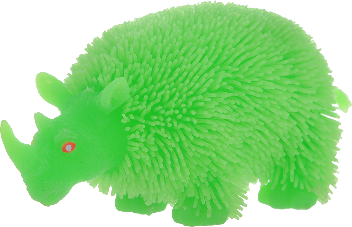 1TOY Антистрессовая игрушка Нью-Ёжики Носорог цвет зеленый