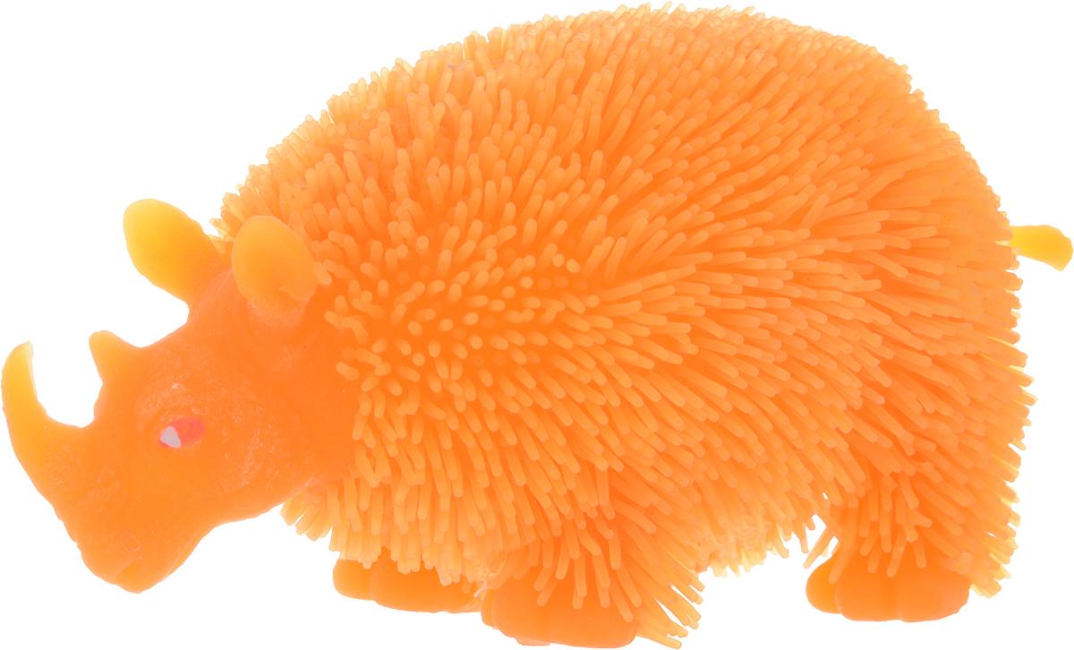 1TOY Антистрессовая игрушка Нью-Ёжики Носорог цвет оранжевый