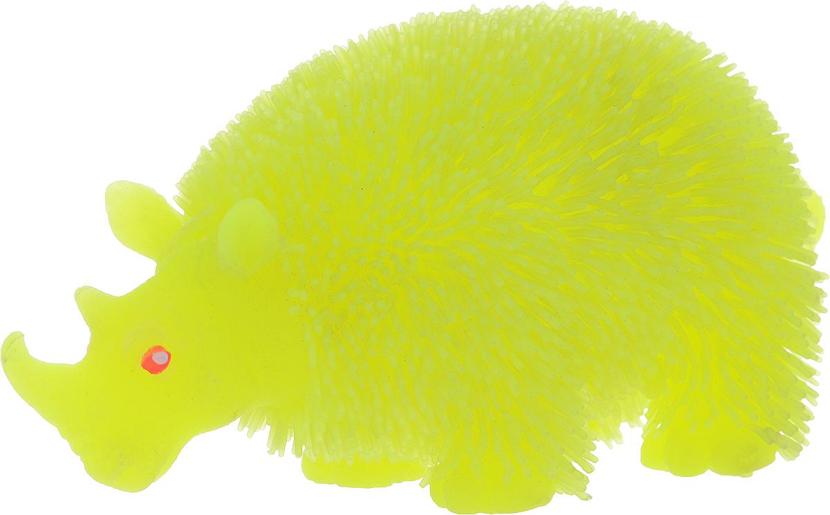 1TOY Антистрессовая игрушка Нью-Ёжики Носорог цвет желтый