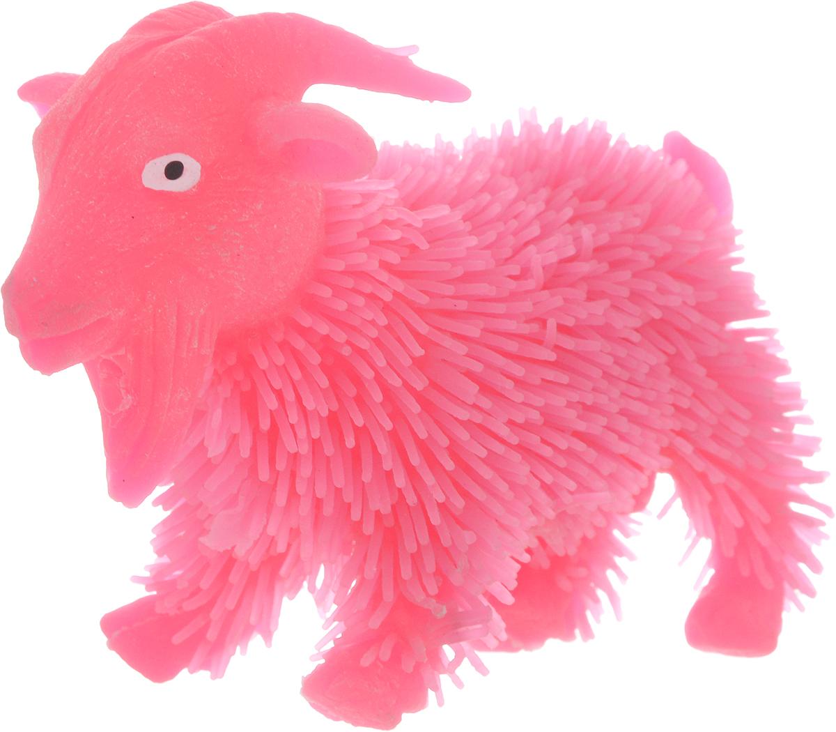 1TOY Антистрессовая игрушка Нью-Ёжики Козел цвет розовый 1toy игрушка антистресс ё ёжик животное цвет бежевый
