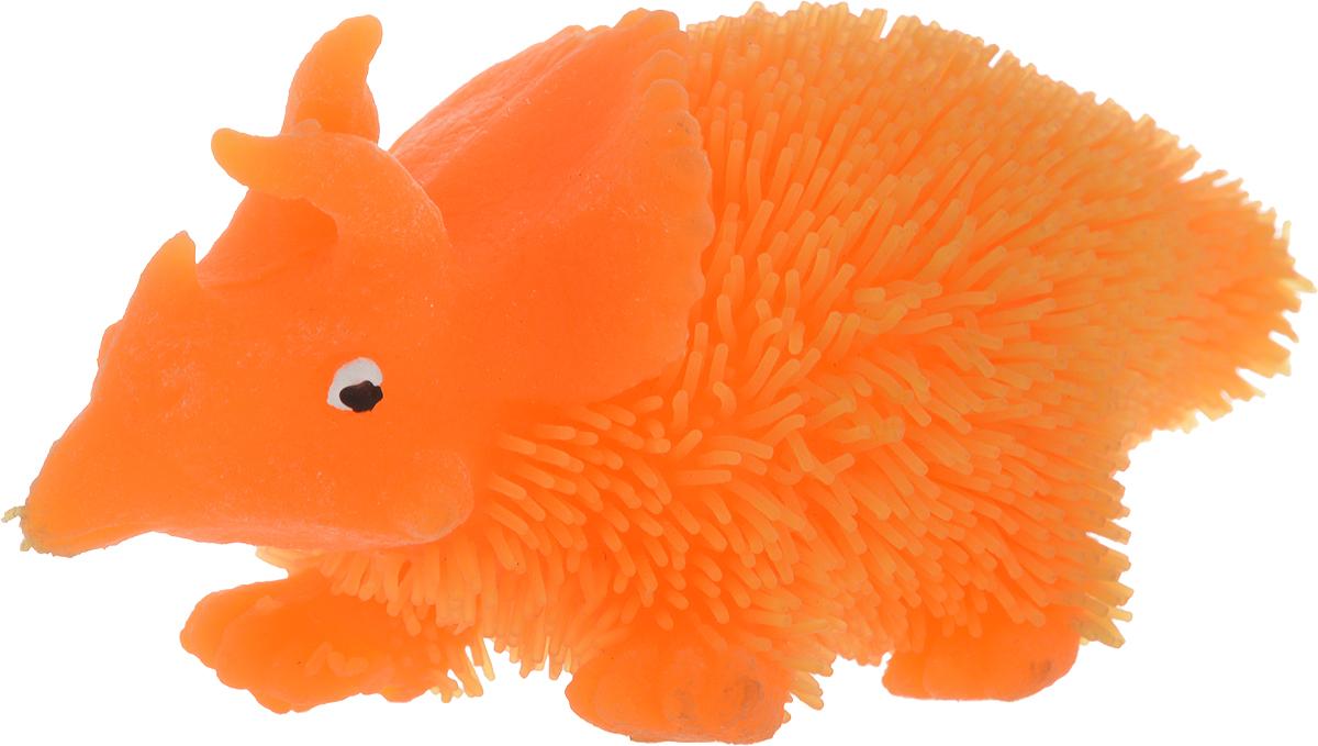 1TOY Антистрессовая игрушка Нью-Ёжики Динозавр цвет оранжевый