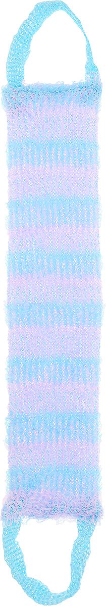 Мочалка Eva Букле. Полосы, вязаная, с ручками, цвет: голубой, сиреневый14498_красныйВязаная синтетическая мочалка Eva Букле. Полосы, изготовленная из полипропилена, отличноочищает кожу и создает обильную пену. Она быстро сохнет, не требует ухода, существенноэкономит моющее средство и имеет длительный срок службы.Размер мочалки (без учета ручек): 47 х 10 х 1 см.Длина мочалки (с учетом ручек): 64 см.
