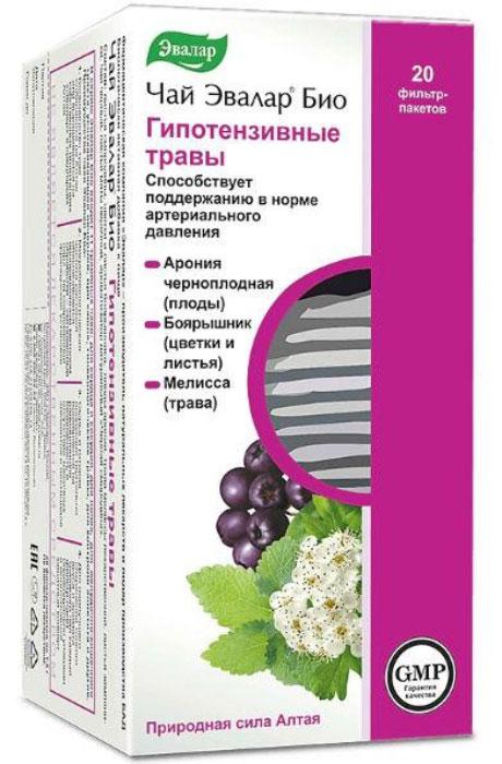 Чай Эвалар Био гипотензивные травы в фильтр-пакетах, 20 шт