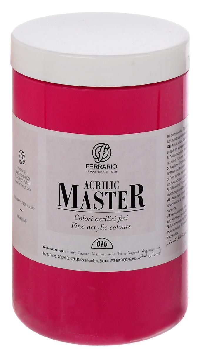 Ferrario Краска акриловая Acrilic Master цвет №16 маджента BM0979E016BM0979E016Акриловые краски серии ACRILIC MASTER итальянской компании Ferrario. Универсальны в применении, так как хорошо ложатся на любую обезжиренную поверхность: бумага, холст, картон, дерево, керамика, пластик. При изготовлении красок используются высококачественные пигменты мелкого помола. Краска быстро сохнет, обладает отличной укрывистостью и насыщенностью цвета. Работы, сделанные с помощью ACRILIC MASTER, не тускнеют и не выгорают на солнце. Все цвета отлично смешиваются между собой и при необходимости разбавляются водой. Для достижения необходимых эффектов применяют различные медиумы для акриловой живописи. В серии представлено 50 цветов.