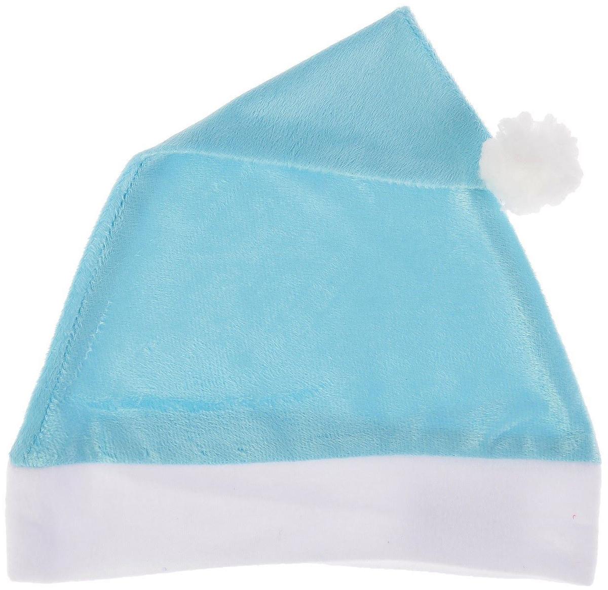 Колпак новогодний Блеск, цвет: голубой, 28 х 38 см2351992Колпак - традиционный новогодний головной убор, который дополнит любой праздничный костюм. Будет это корпоративная вечеринка, утренник в школе или отдых в компании друзей - изделие поднимет настроение, где бы вы ни находились.Колпачок подойдет тем, кто собирается отмечать зимний праздник в помещении. В противном случае его следует надеть на теплую шапку, чтобы не простудиться.