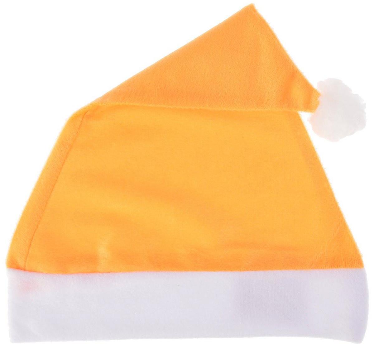 Колпак новогодний Блеск, цвет: оранжевый, 28 х 38 см2351991Колпак - традиционный новогодний головной убор, который дополнит любой праздничный костюм. Будет это корпоративная вечеринка, утренник в школе или отдых в компании друзей - изделие поднимет настроение, где бы вы ни находились.Колпачок подойдет тем, кто собирается отмечать зимний праздник в помещении. В противном случае его следует надеть на теплую шапку, чтобы не простудиться.