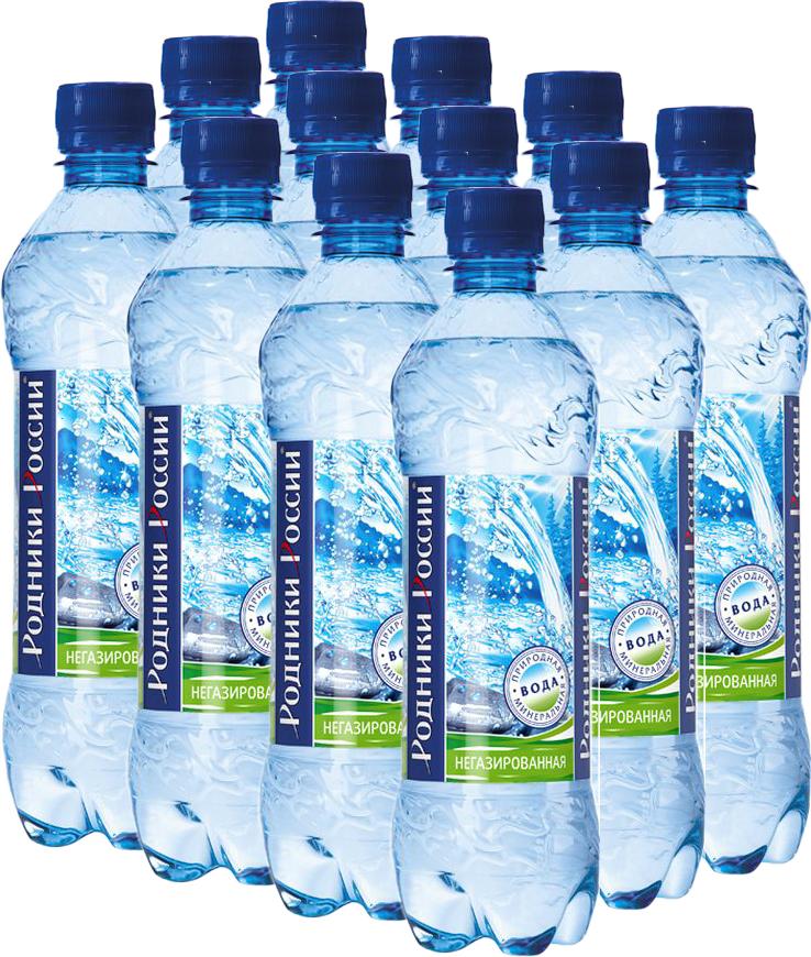 Родники России вода минеральная природная столовая негазированная, 12 штук по 0,5 л минеральная столовая вода hydra 0 5 л со вкусом грейпфрута