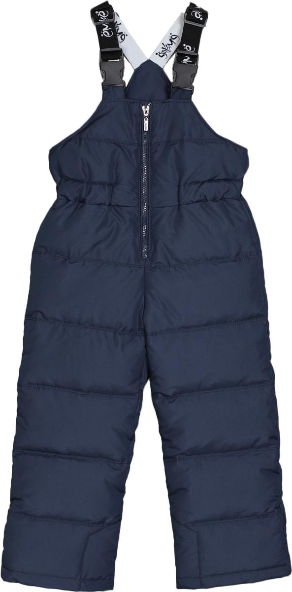 Полукомбинезон для мальчиков Ёмаё, цвет: темно-синий. 47-122. Размер 11047-122Полукомбинезон для мальчика из прочной курточной ткани, с водо- и грязе- отталкивающими пропитками Дополнительно на изделии есть защита от истирания накладки на шаговые швы по низу Изделие на натуральном пуху (85/15, плотность набивки 170 гр/м кв), подкладка комбинированная, вверхней части флис, в ножках - таффета Температурный режим от до минус -25-30 градусов В низках брючин полукомбинезона - внутренняя манжета с настроченной эластичной тесьмой с латексной нитью (антискользящая) - фиксирует брючины на сапогах и предохраняет от попадания снега; для удобства одевания в нижней части бокового шва предусмотрено расширение, фиксирующееся с помощью контактной лентой Молния с внутренней ветрозащитной планкой Бретели из эластичной тесьмы - длина регулируется
