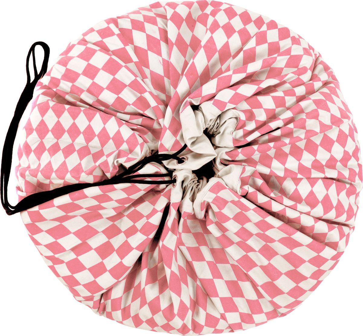 Фото Play&Go Мешок для игрушек Print Розовый бриллиант