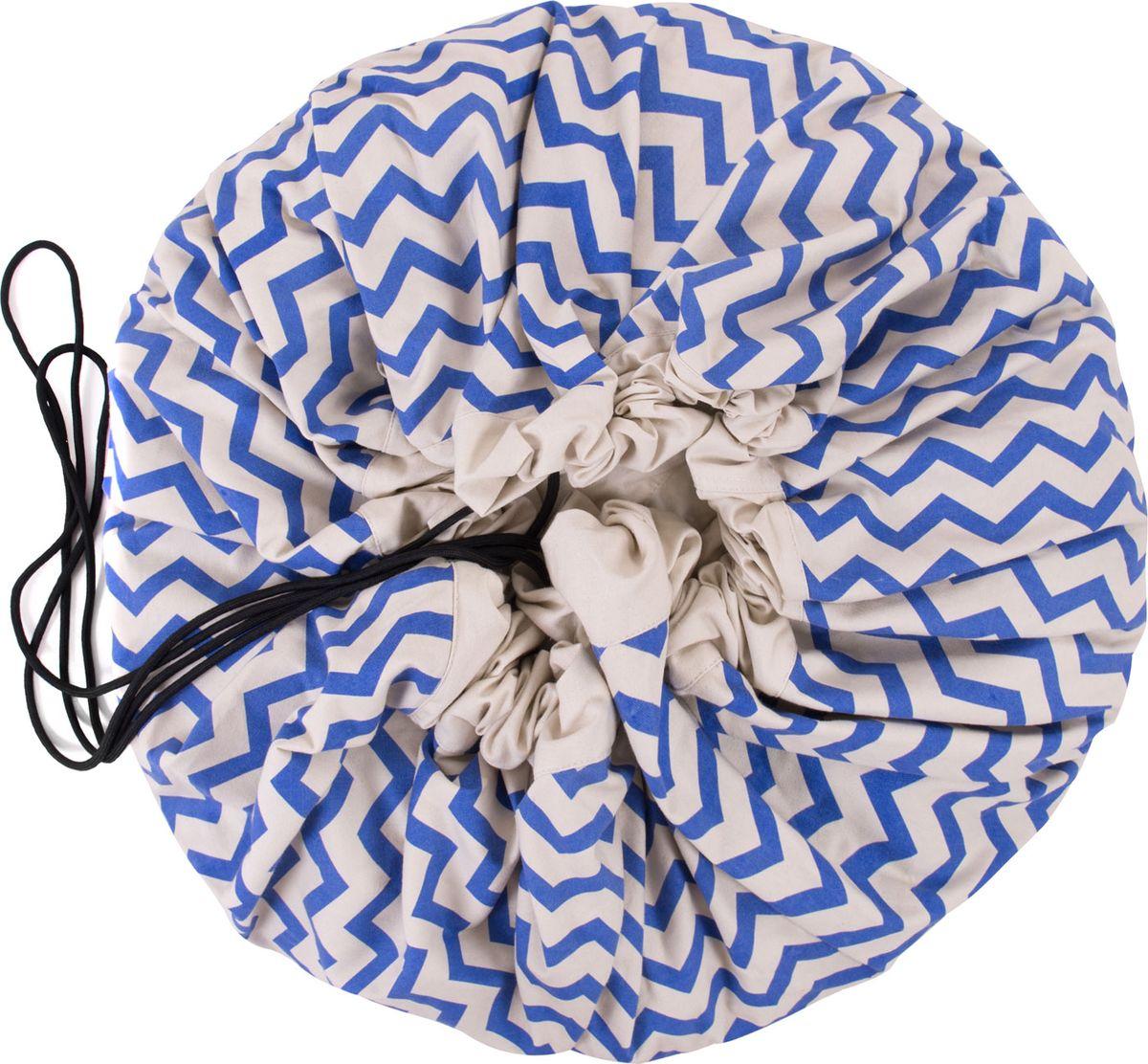Play&Go Мешок для игрушек Print Синий зигзаг -  Товары для хранения
