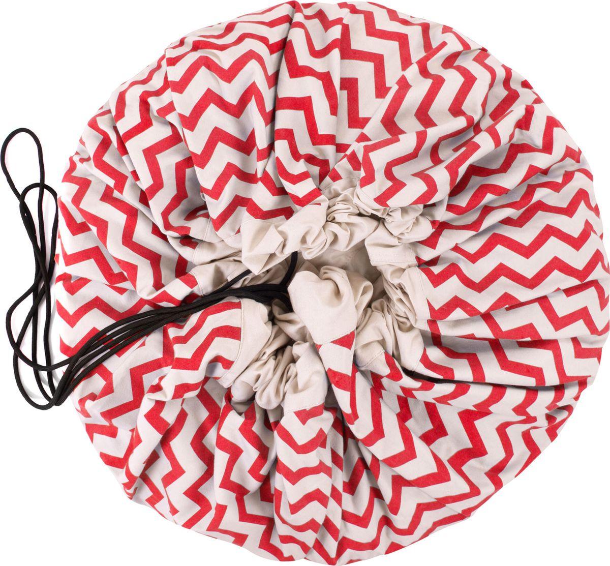 Play&Go Мешок для игрушек Print Красный зигзаг