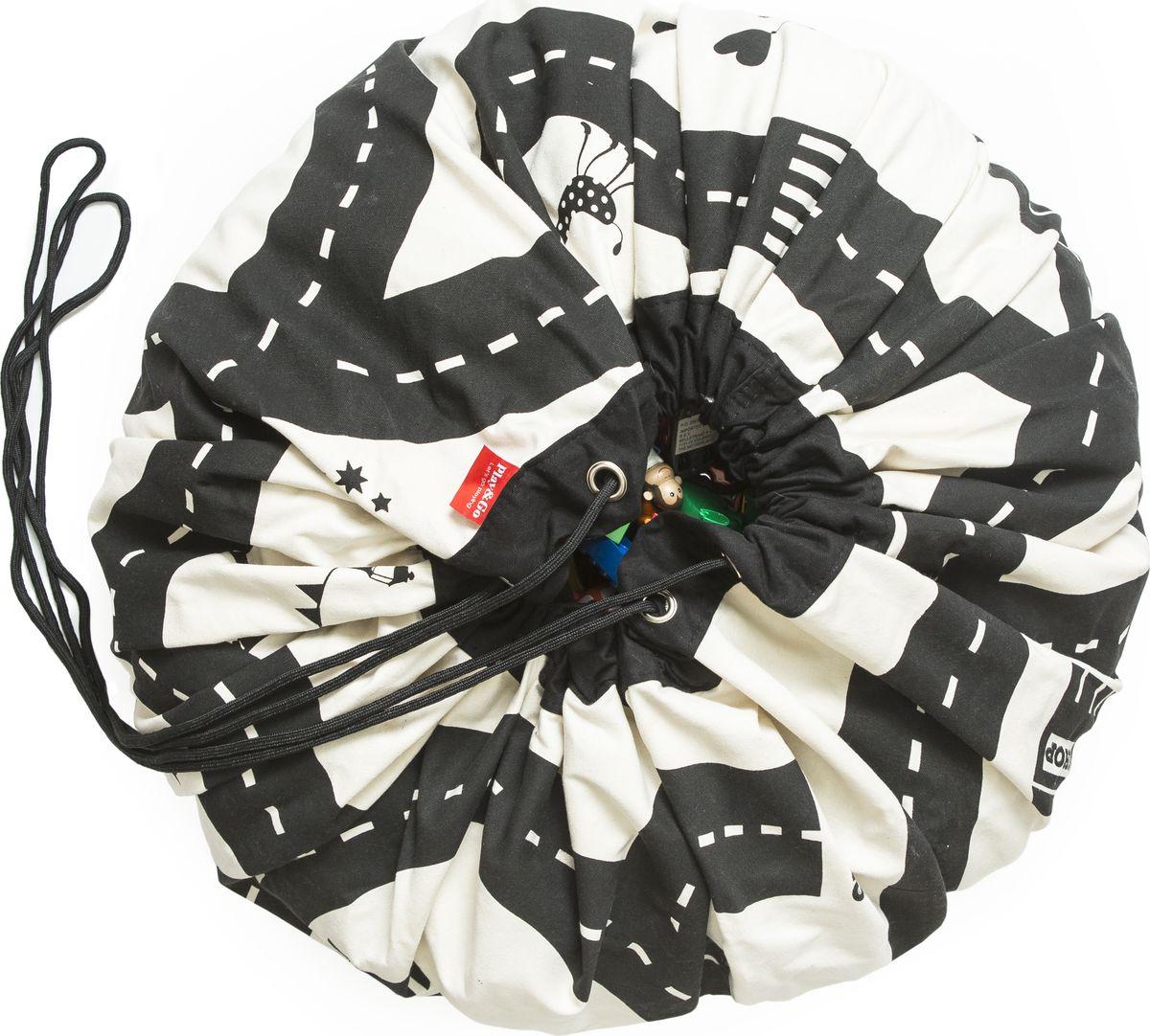 Play&Go Мешок для игрушек Print Дорожная карта79972Хранение игрушек в вашем доме - настоящая проблема?Откройте для себя мешки Play&Go!Это простой и эффективный способ хранения игрушек. Кроме того, это необычайно весело! Два в одном: мешок для хранения игрушек – это ещё и игровой коврик – настоящая мечта каждого малыша. Даже хранение деталей конструктора перестанет быть проблемой, а также хранение кукол, машинок, мячиков, кубиков – все это легко собирается одним движением. Диаметр: 140 смУход: стирка при температуре 30°CМатериал: 70% хлопок, 30% полиэстер