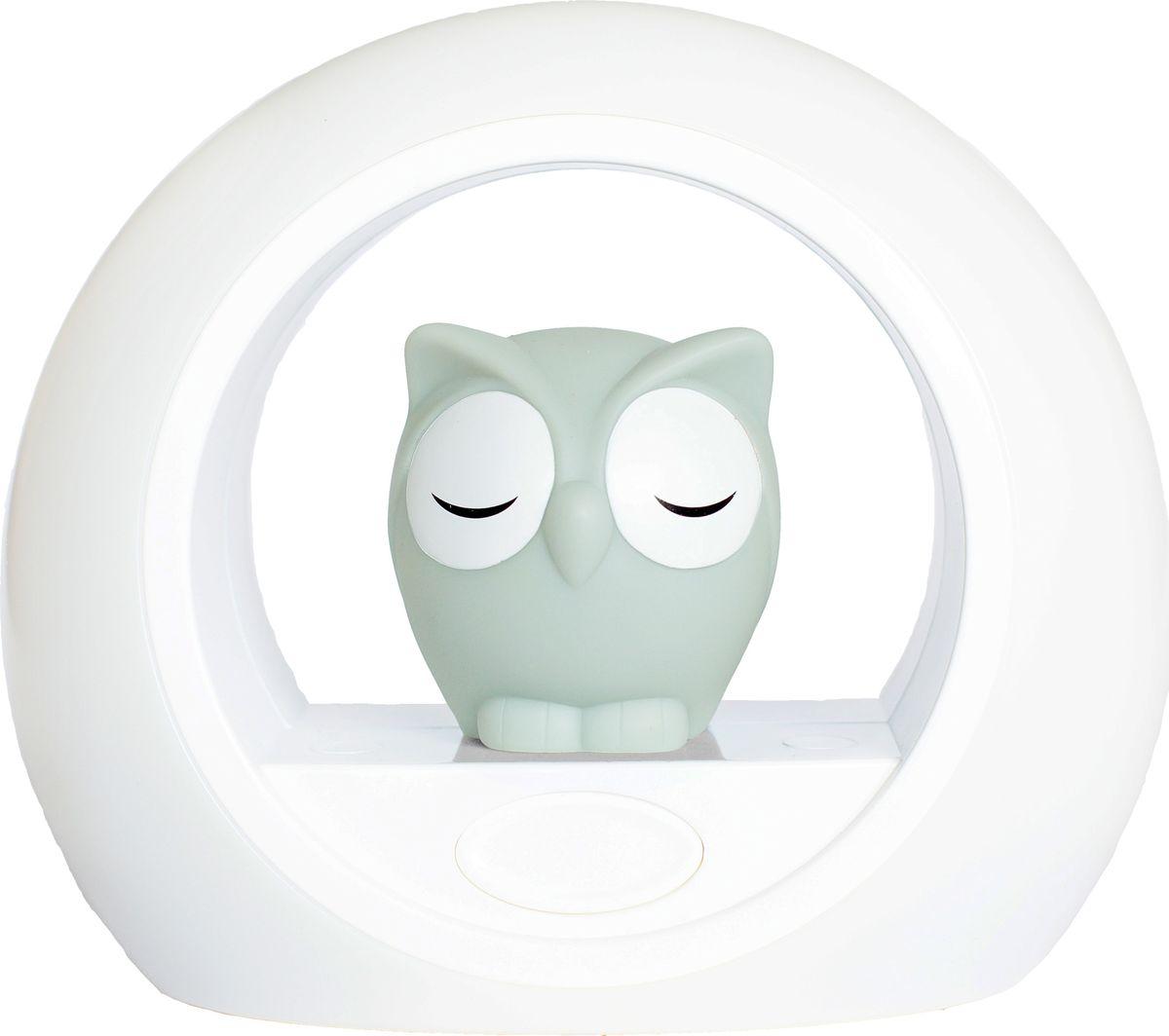 """Светильник ZAZU """"Сова Лу"""" включается от звука голоса, который помогает  успокоить вашего малыша. Если ваш ребёнок проснулся ночью, то активируется датчик включения  звука, и сенсор загорается мягким светом. Установите таймер, чтобы устройство автоматически выключилось после  того, как ваш малыш заснёт. Сова и внешнее кольцо могут быть включены по отдельности. Чтобы свет  был более ярким, используйте их вместе, для более мягкого свечения  включите что-то одно. Вы можете настроить яркость света как самой совы, так и внешнего  кольца. Выбирайте яркий, мягкий или рассеянный свет."""