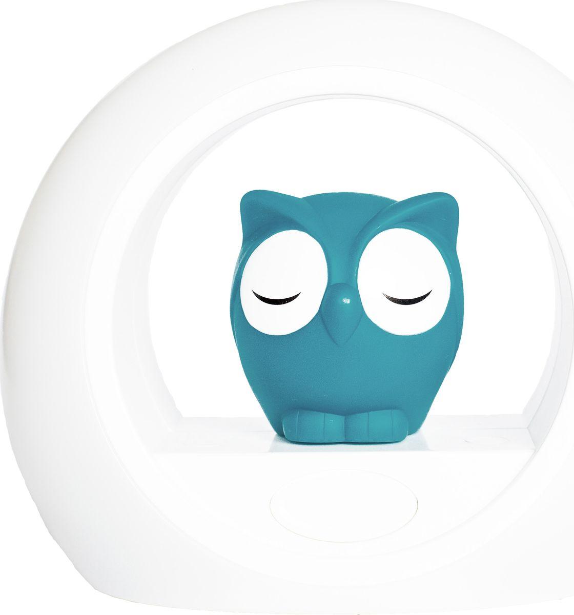 ZAZU Ночник детский Сова Лу цвет синийZA-LOU-02Светильник, включающийся от звука голоса, который помогает успокоить вашего малыша.