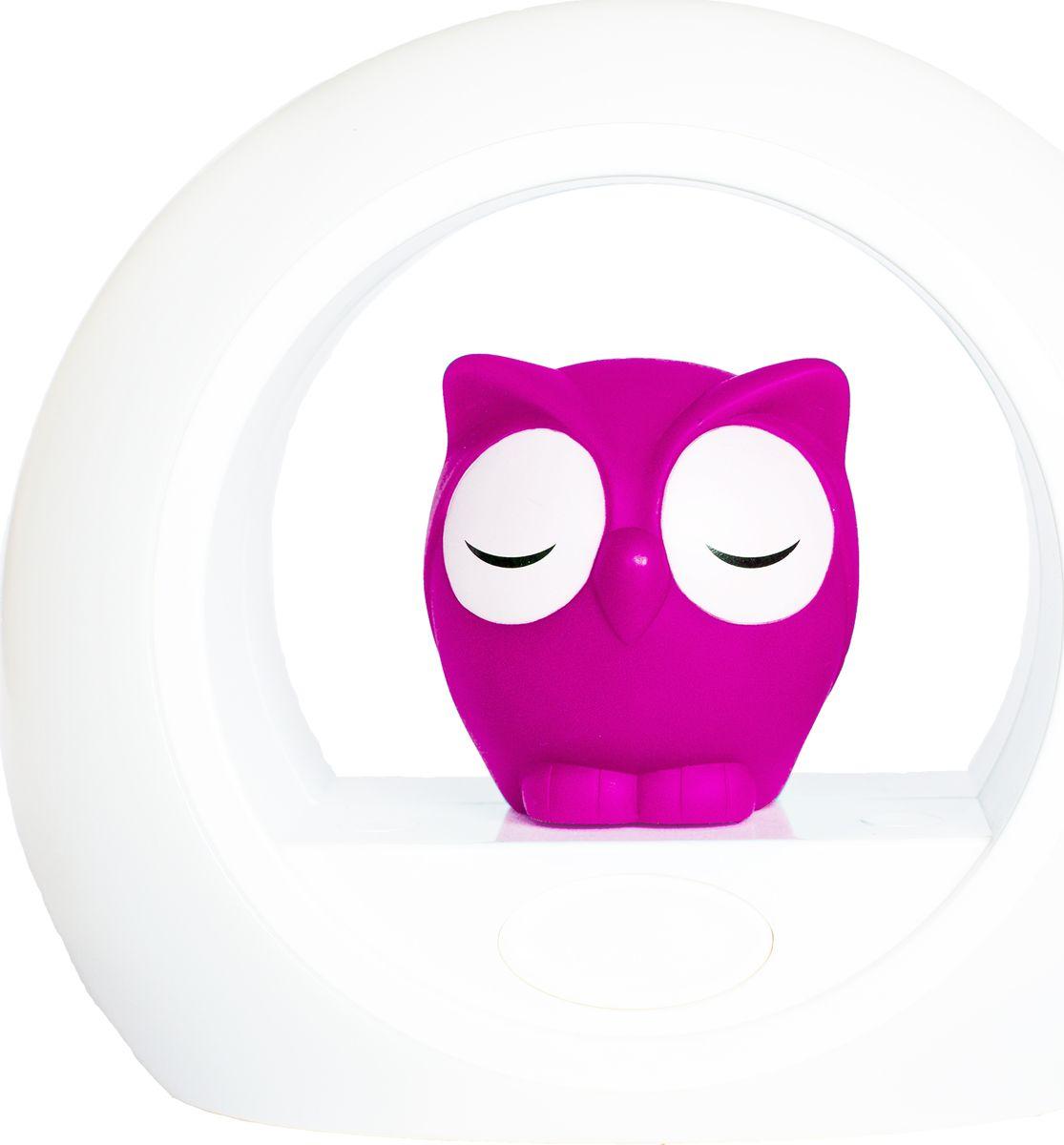 ZAZU Ночник детский Сова Лу цвет розовыйZA-LOU-03Светильник ZAZU Сова Лу включается от звука голоса, который помогает успокоить вашего малыша.Если ваш ребёнок проснулся ночью, то активируется датчик включения звука, и сенсор загорается мягким светом.Установите таймер, чтобы устройство автоматически выключилось после того, как ваш малыш заснёт.Сова и внешнее кольцо могут быть включены по отдельности. Чтобы свет был более ярким, используйте их вместе, для более мягкого свечения включите что-то одно.Вы можете настроить яркость света как самой совы, так и внешнего кольца. Выбирайте яркий, мягкий или рассеянный свет.