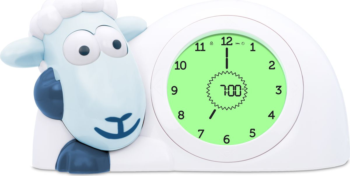 ZAZU Настольные часы детские Ягнёнок Сэм цвет синийZA-SAM-02Научит детей вовремя ложиться спать и просыпаться.