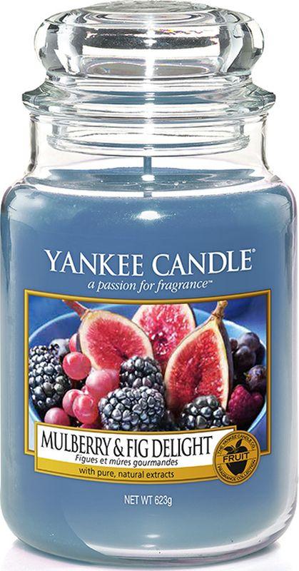 Свеча ароматизированная Yankee Candle Инжир и Ежевика, большая, в стеклянной банке, 623 г1556245E110-150 часов горения. Фруктовая ваза наполненная сочными ежевикой и свежесобранным инжиром.Верхняя нота: Ежевика, Спелый Инжир, Лист Малины Средняя нота: Красная Слива, Абрикос, Персик, Ежевика Базовая нота: Тонка, Ванильный Боб