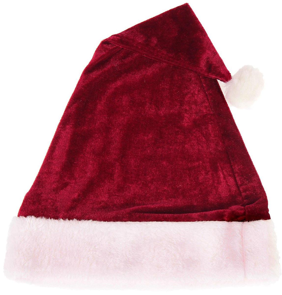 Колпак новогодний Мягкий, цвет: бордовый, 28 х 40 см2352008Невозможно представить нашу жизнь без праздников! Мы всегда ждем их и предвкушаем, обдумываем, как проведем памятный день, тщательно выбираем подарки и аксессуары, ведь именно они создают и поддерживают торжественный настрой. Это отличный выбор, который привнесет атмосферу праздника в ваш дом!