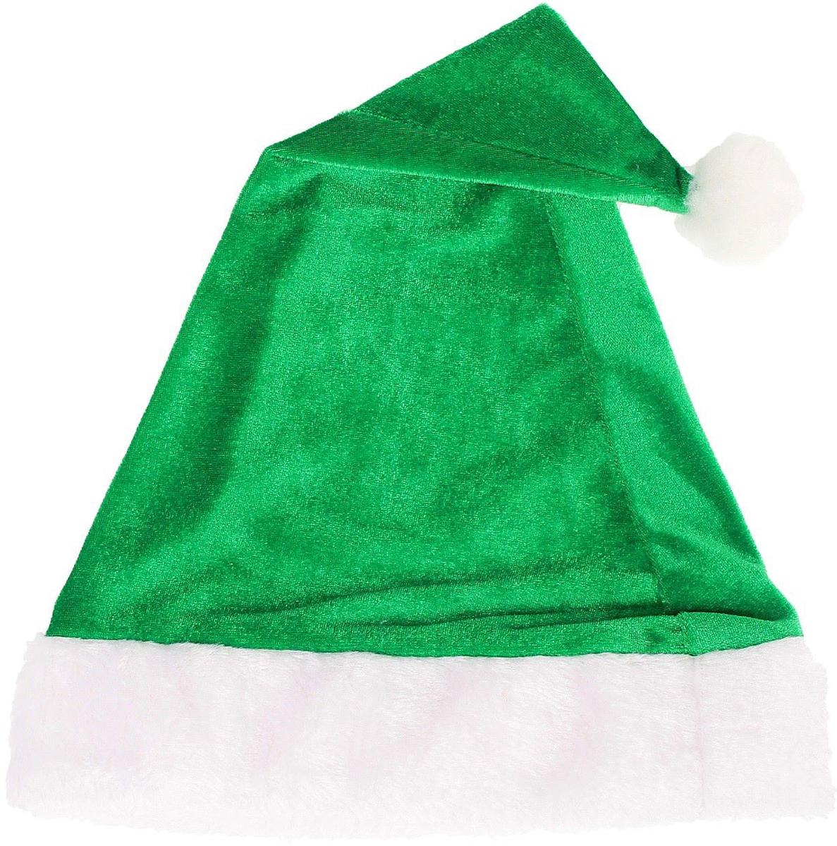 Колпак новогодний Мягкий, цвет: зеленый, 28 х 40 см2352010Колпак - традиционный новогодний головной убор, который дополнит любой праздничный костюм. Будет это корпоративная вечеринка, утренник в школе или отдых в компании друзей - изделие поднимет настроение, где бы вы ни находились.Колпачок подойдет тем, кто собирается отмечать зимний праздник в помещении. В противном случае его следует надеть на теплую шапку, чтобы не простудиться.
