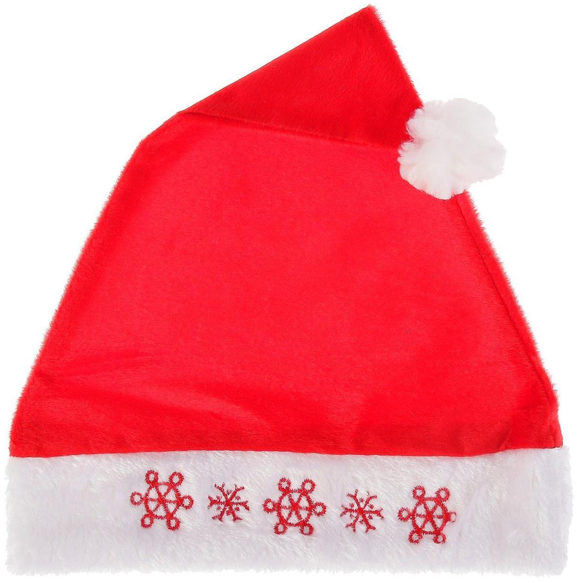 Колпак новогодний Снежинки, 28 х 38 см2351994Невозможно представить нашу жизнь без праздников! Мы всегда ждем их и предвкушаем, обдумываем, как проведем памятный день, тщательно выбираем подарки и аксессуары, ведь именно они создают и поддерживают торжественный настрой. Это отличный выбор, который привнесет атмосферу праздника в ваш дом!
