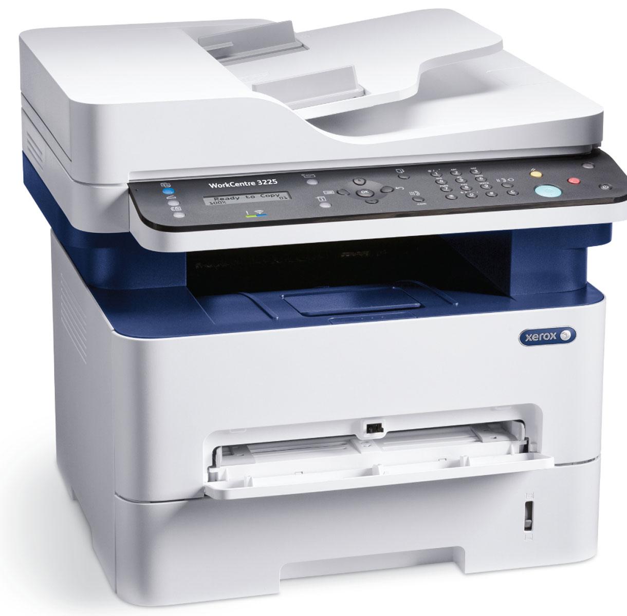 Xerox WorkCentre 3225DNI МФУ3225V_DNIМонохромное лазерное МФУ Xerox WorkCentre 3225DNI соответствуют всем современным требованиям индивидуальных пользователей и небольших рабочих групп: обладает высокой скоростью печати – 28 страниц в минуту, сочетает в себе надежность и компактность! WorkCentre 3225DNI обеспечивает автоматическую двустороннюю печать с четко проработанными текстом и графикой.Объем памяти 256 МБ и процессор с тактовой частотой 600 МГц обеспечивает быструю и точную печать. Раздельная архитектура расходных материалов позволяет заменять только те модули, которые необходимо, получая максимальную отдачу от каждого картриджа.Устройство WorkCentre 3225DNI оснащено функциями копирования, сканирования и факса. Объединение ключевых функций в одном устройстве позволяет сократить эксплуатационные расходы и количество обращений в сервисную службу. Режимы энергосбережения и экономии тонера, наряду с настройками рационального режима в драйвере устройства, позволяют тратить меньше средств на оплату электроэнергии и расходных материалов. Поддержка функции Wi-Fi Direct обеспечивает безопасное соединение с мобильных телефонов, планшетов и портативных компьютеров даже при отсутствии беспроводной сети. Поддержка Apple AirPrint и Xerox PrintBack позволяет отправлять документы на печать с любого смартфона или планшета на базе Android и iOS без установки дополнительных драйверов и проводов.Струйный или лазерный принтер: какой лучше? Статья OZON Гид