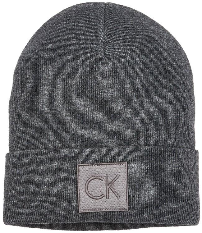 где купить Шапка мужская Calvin Klein Jeans, цвет: темно-серый. K50K503209_002. Размер универсальный по лучшей цене
