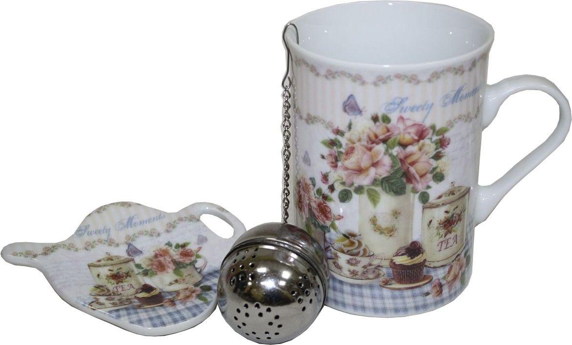 Кружка Лилло Чай, с ситечком и подставкой, 280 млM05CQ.ЧайКружка с ситечком и подставкой