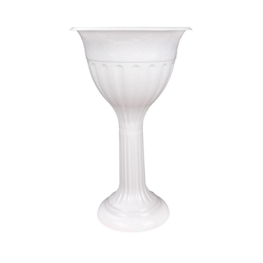 Вазон Альтернатива Лозанна, цвет: белый, 20 лМ1396Вазон Альтернатива Лозанна изготовлен из высококачественного полипропилена (пластика). Идеален для размещения в узких местах - где любой другой вазон (чуть шире в диаметре) уже не установишь. Изысканно удлиненная форма вазона обогатит ландшафтную композицию красотой формы.
